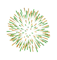 firework isolated beautiful salute on white vector image