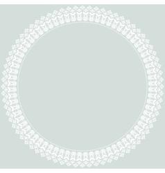 Floral Fine Round Frame vector