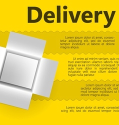 for delivery gift vector image