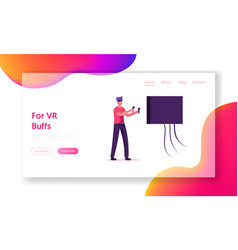 future technology entertainment industry website vector image