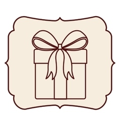 Gift inside frame design vector