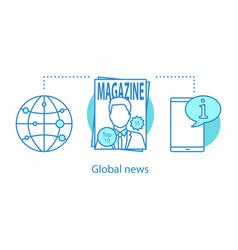 Global news concept icon vector