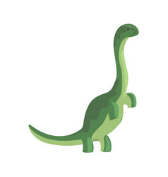 Green theropod dinosaur character jurassic vector