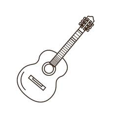 Guitar outline icon vector image