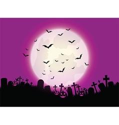 Halloween pumpkin landscape vector