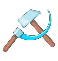 Hammer and sickle icon cartoon style vector