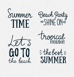 hand drawn stylish summer typography lettering vector image