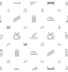 Home icons pattern seamless white background vector