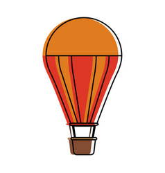 hot air balloon icon image vector image