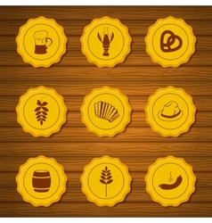icons of beer caps vector image