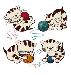 Kittens vector image