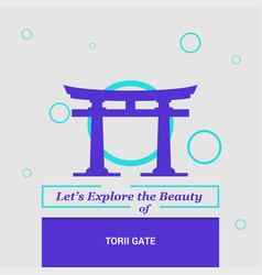 Lets explore the beauty of torii gate itsukushima vector