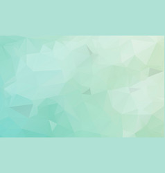 light blue green polygonal pattern colorful vector image