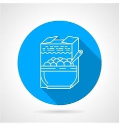 Line icon for porridge vector