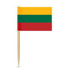 lithuania flag toothpick vector image