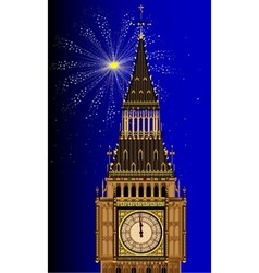 London Mew Years Eve vector image