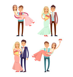 Married couples collection vector