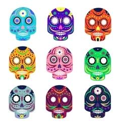 mexican day dead concept vector image