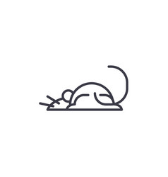 mouse line icon sign on vector image