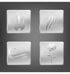 nature metal elements vector image