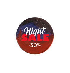 night sale dark banner vector image