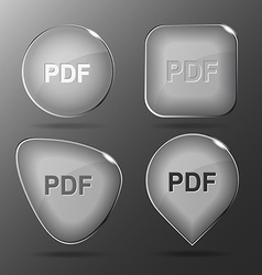 Pdf Glass buttons vector