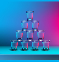 pyramid of shots vector image