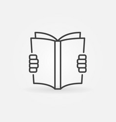 Reading a book concept icon vector