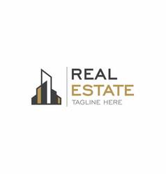 real estate apartment logo design vector image