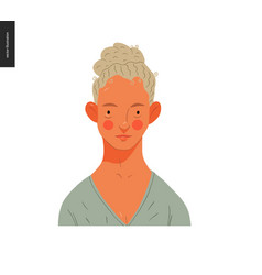 Real people portraits - blond woman vector