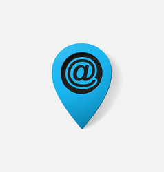 Realistic color pointer e mail sign vector