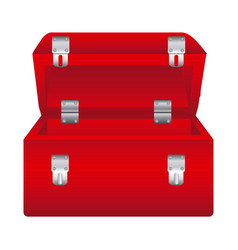 Red box tools open icon vector