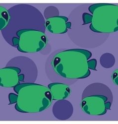 Seamless green fish vector