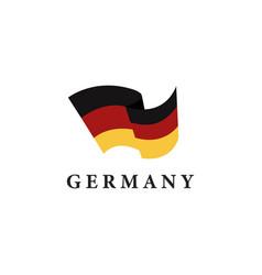 simple flag logo icon germany german icon vector image