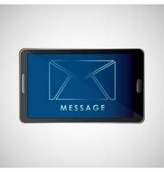 Smartphone concept email message chat icon vector