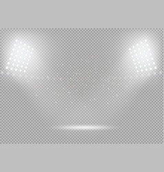 spotlights podium scene bright light vector image