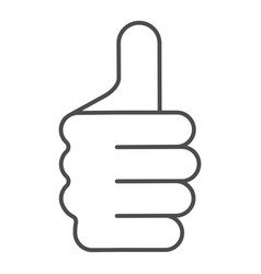 thumb up gesture thin line icon like vector image