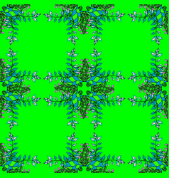 Traditional classic green pattern on colorful vector