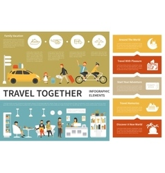Travel Together infographic flat vector