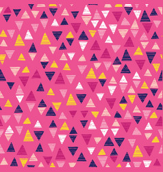 triangle seamless repeat with pink vector image