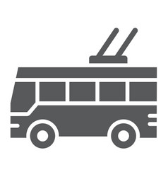 Trolleybus glyph icon transport and public vector