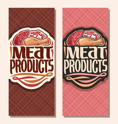 Vertical banners for meat vector