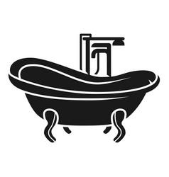 vintage bath icon simple style vector image