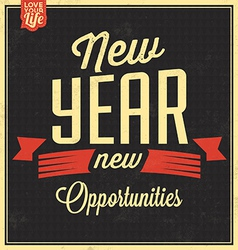 Vintage New Years Typographic Background vector