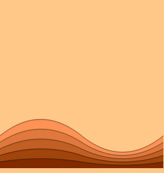 Wavy abstract background from curved stripes vector