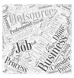 business process outsourcing Word Cloud Concept vector image vector image