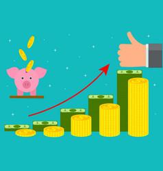 cartoon retirement money concept card poster vector image vector image