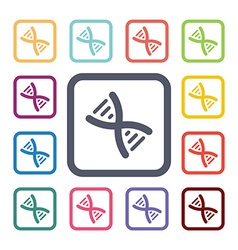 dna flat icons set vector image vector image