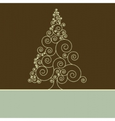 retro Christmas card template vector image vector image