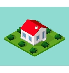 Town house in isometric vector